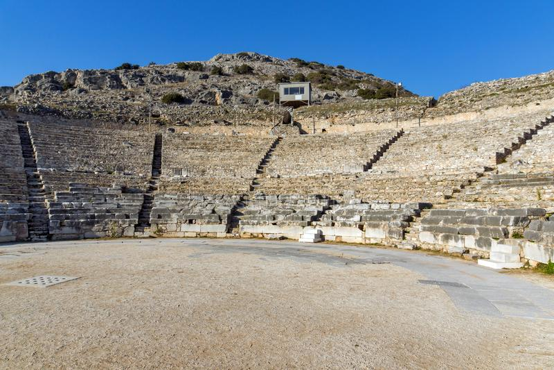 Ruiny antyczny miasto Philippi, Grecja obraz stock