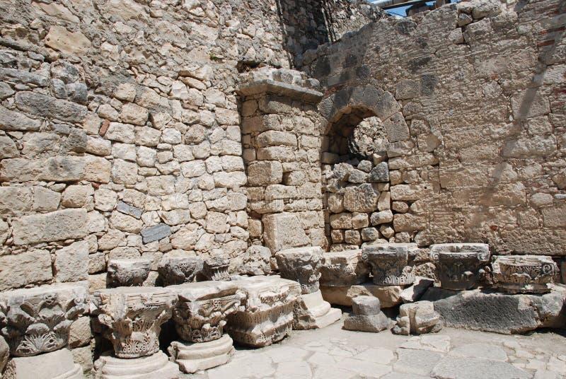 Ruiny antyczny miasto w Turcja blisko Antalya zdjęcie stock