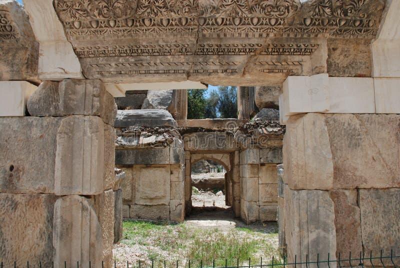 Ruiny antyczny miasto w Turcja blisko Antalya obrazy stock