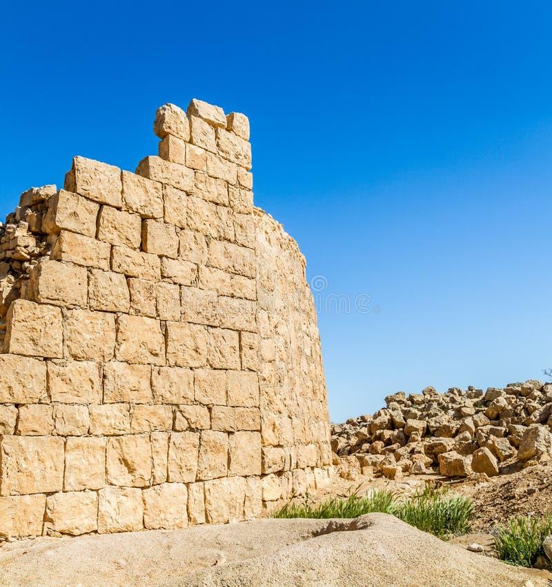Ruiny antyczny Nabataean miasteczko Shivta obrazy stock