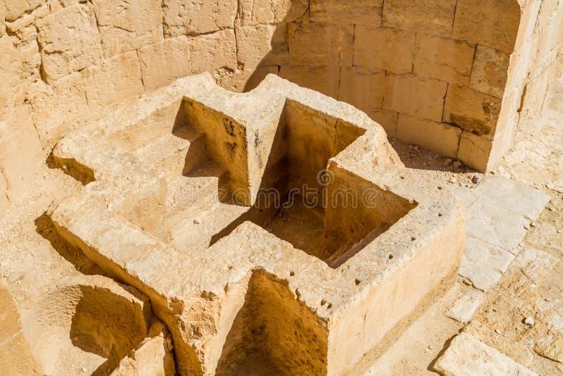 Ruiny antyczny Nabataean miasteczko Shivta obrazy royalty free