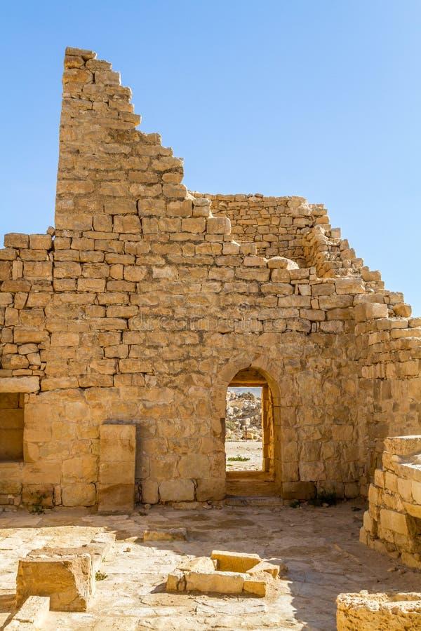 Ruiny antyczny Nabataean miasteczko Shivta obraz stock