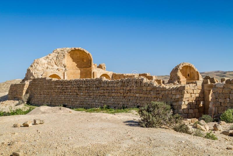 Ruiny antyczny Nabataean miasteczko Shivta zdjęcie royalty free