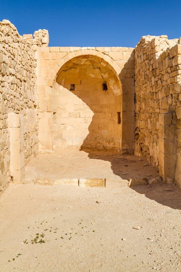 Ruiny antyczny Nabataean miasteczko Shivta fotografia stock