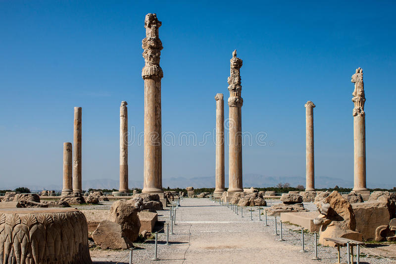 Ruiny antyczny Persepolis zdjęcie royalty free