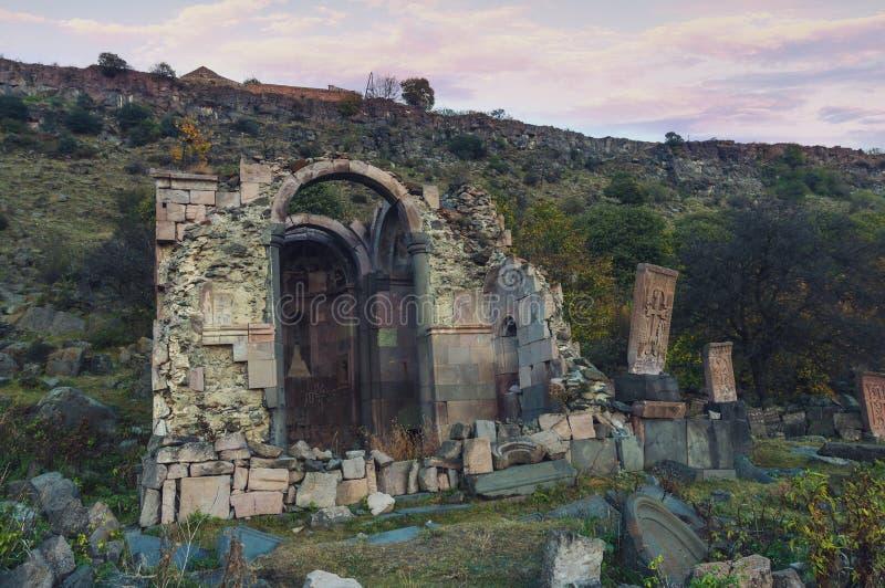 Ruiny Armeński Średniowieczny kościół zdjęcia royalty free