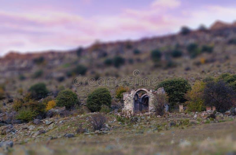 Ruiny Armeński Średniowieczny kościół obrazy royalty free