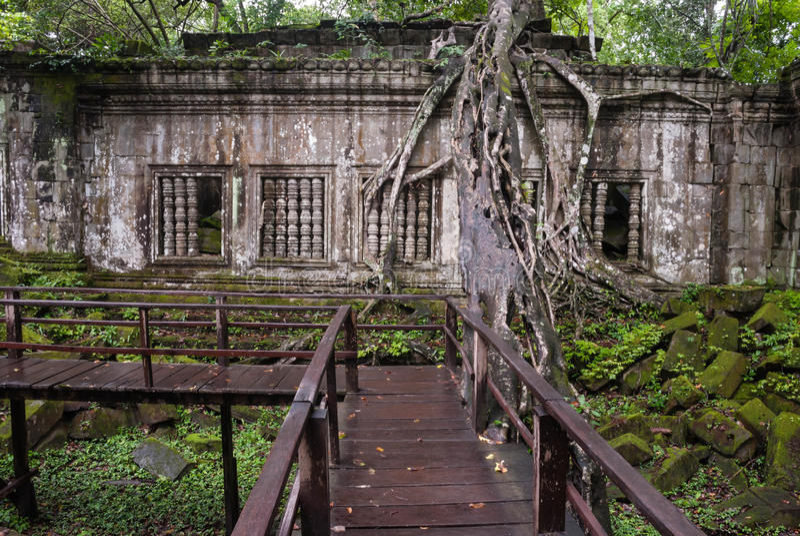 Ruiny Beng Mealea, Angkor, Kambodża obraz royalty free