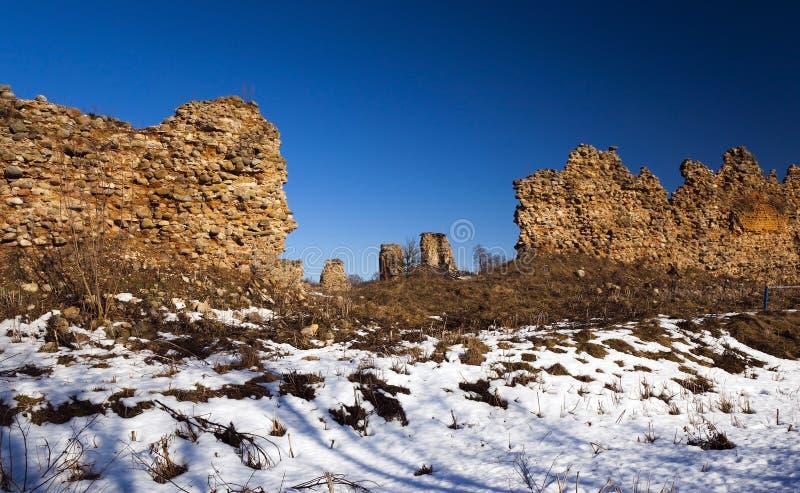 Ruiny, Białoruś zima zdjęcia royalty free