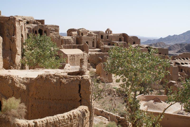 Ruiny borowinowy miasto w Iran obrazy royalty free