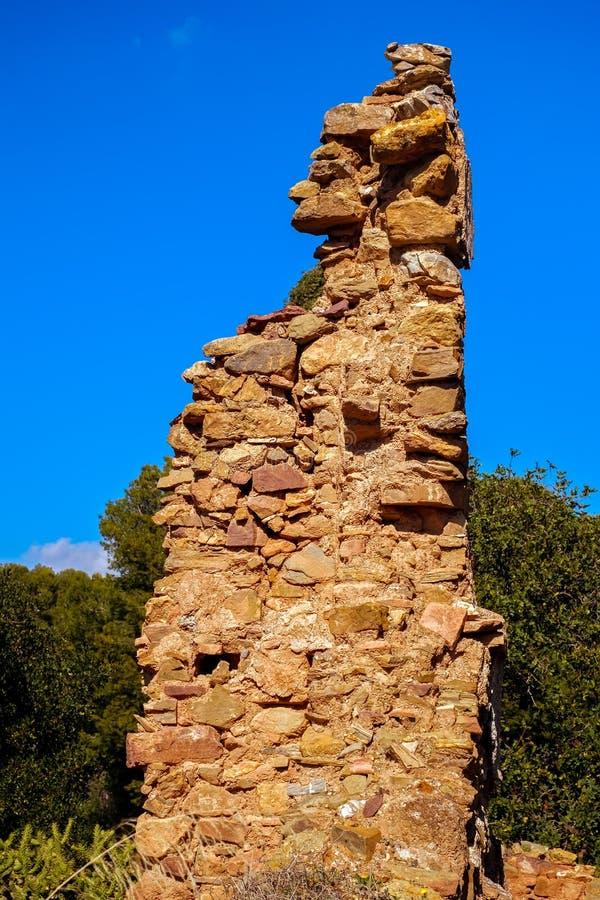Ruiny budynki obrazy stock
