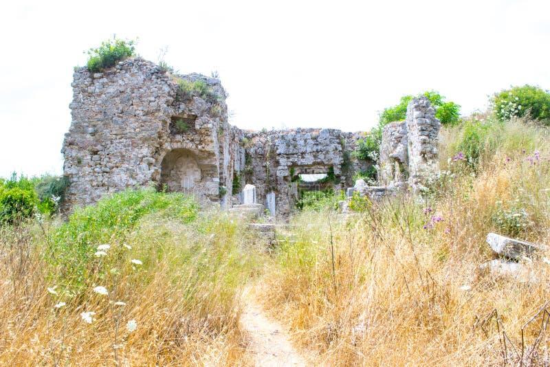 Ruiny budynki antyczny miasto indyk Boczny miasto zdjęcie royalty free