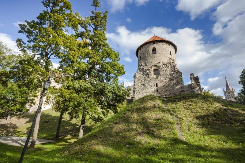 Ruiny Cesis kasztel, Latvia obrazy stock