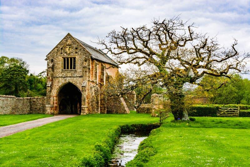 Ruiny Cleeve opactwo w Washford, Somerset, Anglia, UK obraz stock