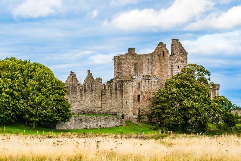 Ruiny Craigmillar roszują w Edingurgh, Szkocja zdjęcie royalty free