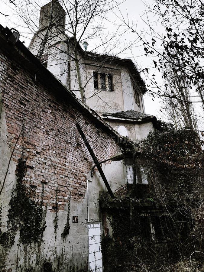 Ruiny crematorium zdjęcie royalty free