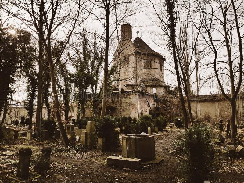 Ruiny crematorium fotografia stock