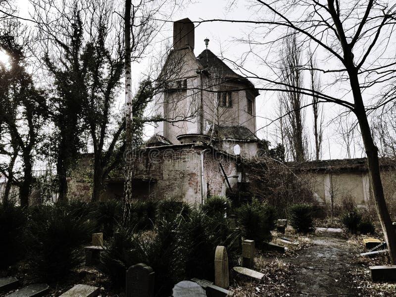 Ruiny crematorium obrazy royalty free
