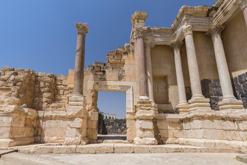 Ruiny Decapolis miasto Scythopolis, zakład Ona «park narodowy, Izrael, Środkowy Wschód fotografia royalty free