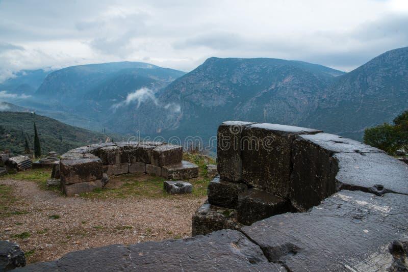 Ruiny, Delphi, Grecja obraz royalty free