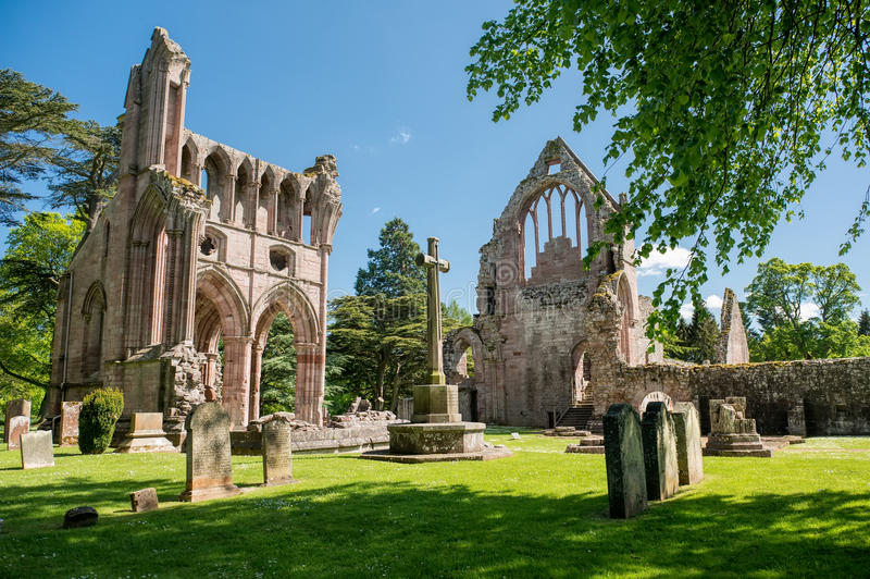 Ruiny Dryburgh opactwo, Szkocja obraz stock