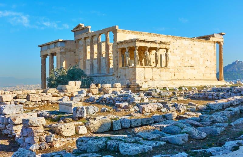 Ruiny Erechtheion świątynia obraz stock
