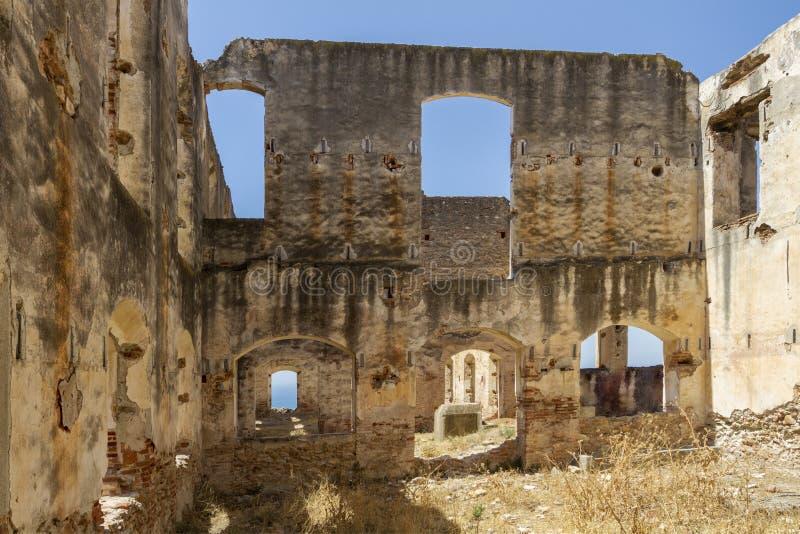 Ruiny fabryka w Hiszpania fotografia royalty free