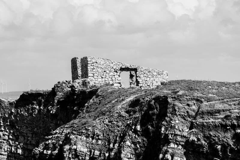 Ruiny forte da Luz fort światło, Peniche, Portugalia obrazy stock