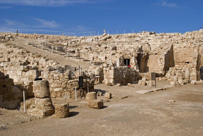 Ruiny forteca Herod Wielki, Herodium, Palestyna obraz stock