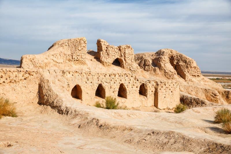 Ruiny forteczny Toprak-Kala obrazy stock