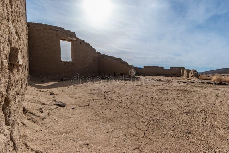 Ruiny fortu Churchill stanu park w Nevada obraz stock