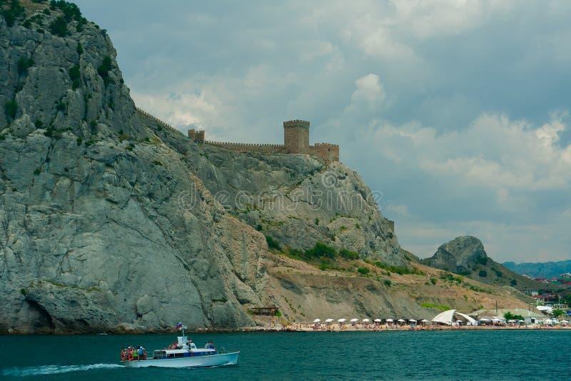 Ruiny Genueński forteca zdjęcia royalty free