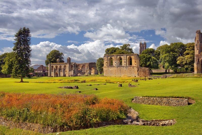 Ruiny Glastonbury opactwo, Somerset, Anglia obraz stock