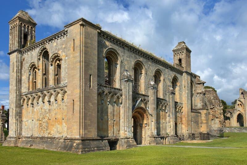 Ruiny Glastonbury opactwo, Somerset, Anglia obraz royalty free