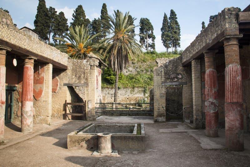 Ruiny Herculaneum, Naples, Włochy fotografia stock