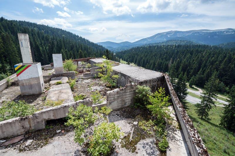 Ruiny hotel zdjęcie royalty free