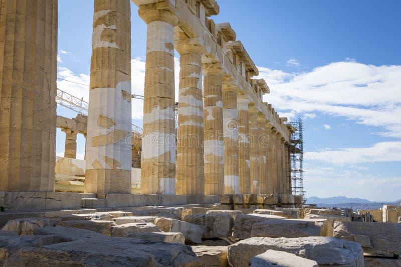 Ruiny i resztki akropol zdjęcie royalty free