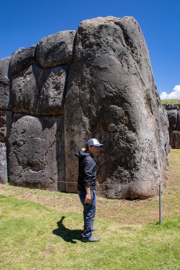 Ruiny inka kompleks Zna? jako Sacsayhuaman zdjęcia stock