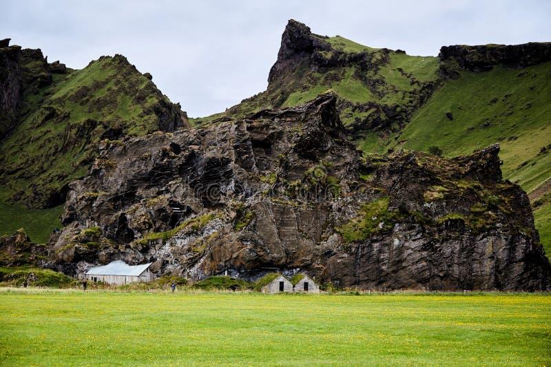Ruiny Islandzki tradycyjny dom zdjęcie stock