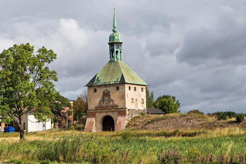 Ruiny Johannisborg kasztel w Norrkoping, Szwecja fotografia stock