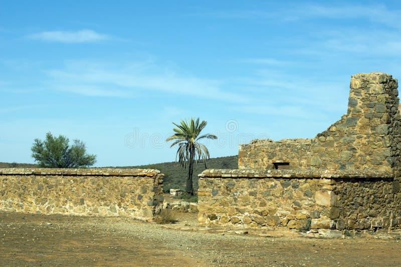 Ruiny Kanyaka stacja, Flinders pasma, Południowy Australia zdjęcia stock