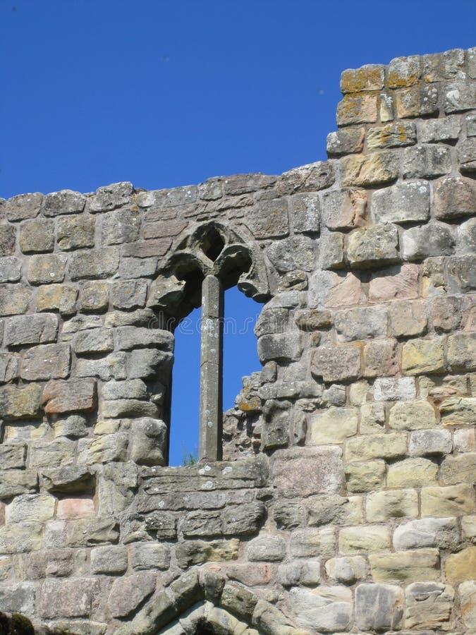 Ruiny kasztel Etal, Northumberland zdjęcie stock