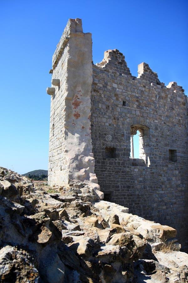 Ruiny kasztel w Campiglia Marittima, Włochy obrazy royalty free