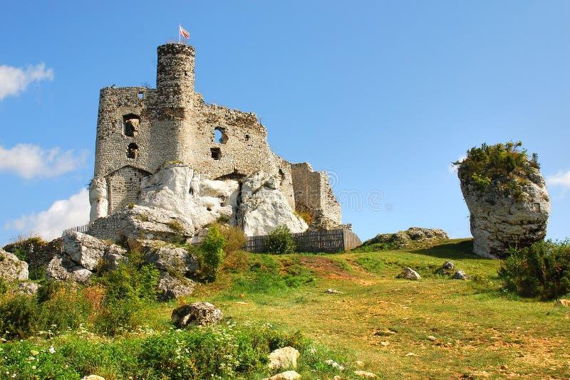 Ruiny kasztel w Mirow fotografia stock