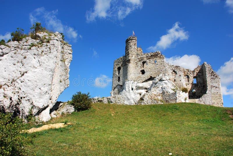 Ruiny kasztel w Mirow obrazy stock