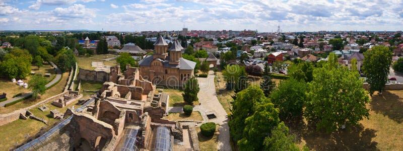 Ruiny kasztel w Targoviste, Rumunia fotografia stock