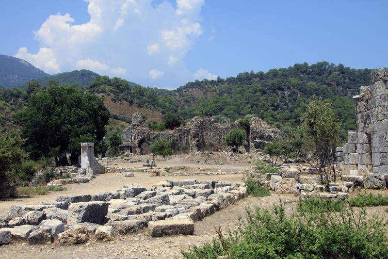 Ruiny Kaunos 2 obrazy royalty free