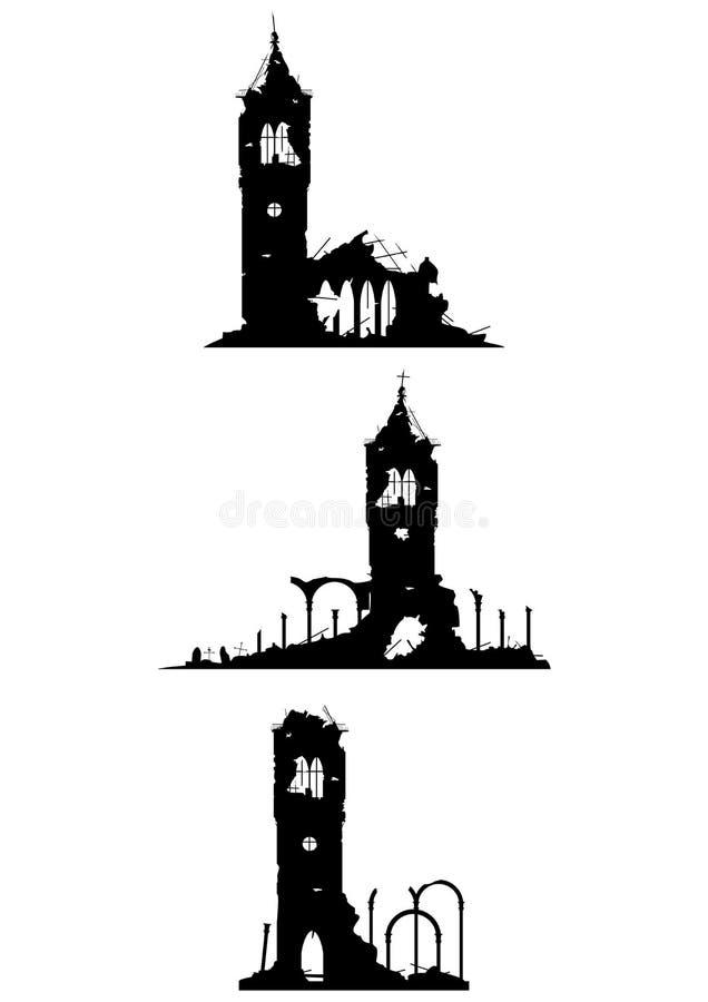 Ruiny kościół ilustracja wektor