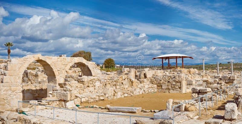Ruiny Kourion, archeologiczny miejsce lokalizować blisko Limassol zdjęcie stock