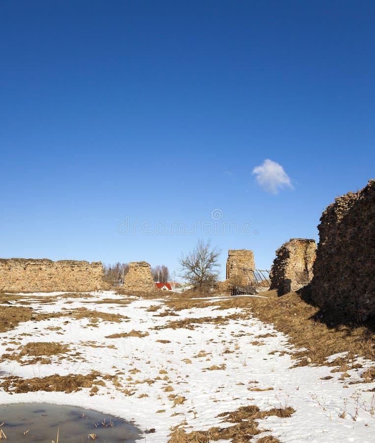 Ruiny Krevo, Białoruś zdjęcie royalty free